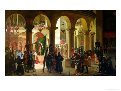 Godfrey of Bouillon Depositing the Trophies of Askalon in the Holy Sepulchre Church Giclee Print by Francois-Marius Granet