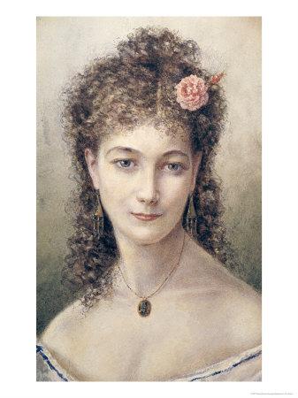 Sarah Bernhardt 1869 Giclee Print by Marie Desire Bourgoin