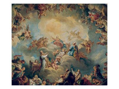 The Glorification of the Virgin, 1731 Giclee Print by Francois Lemoyne