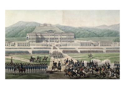 The Arrival of Napoleon Bonaparte at Schloss Schonbrunn, circa 1820 Giclee Print by Alexandre De La Borde
