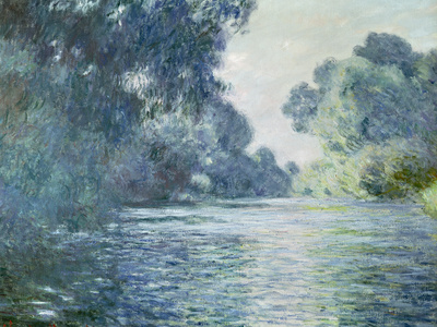 Branch of the Seine Near Giverny, 1897 Premium Giclee Print by Claude Monet