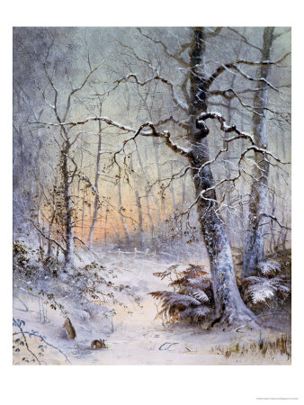 Winter Breakfast Premium Giclee Print by Joseph Farquharson