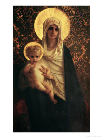 Virgin and Child, 1872 Premium Giclee Print by Ernest Antoine Hebert