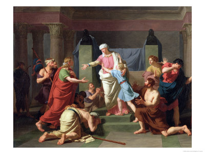 Joseph Recognised by His Brothers, 1789 Giclee Print by Charles Thevenin