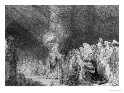 Presentation in the Temple Premium Giclee Print by  Rembrandt van Rijn