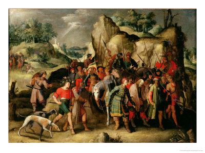 St. Paul Led to Damascus after His Conversion Premium Giclee Print by Pieter Brueghel the Younger