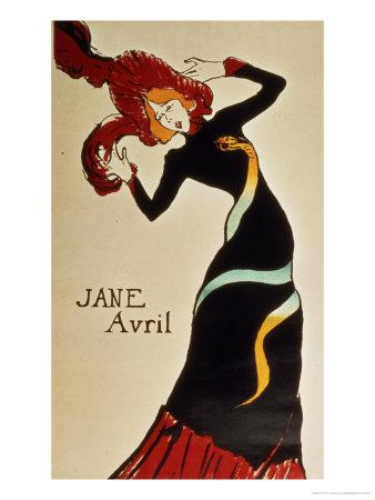 Jane Avril 1899 Lámina giclée por Henri de Toulouse-Lautrec