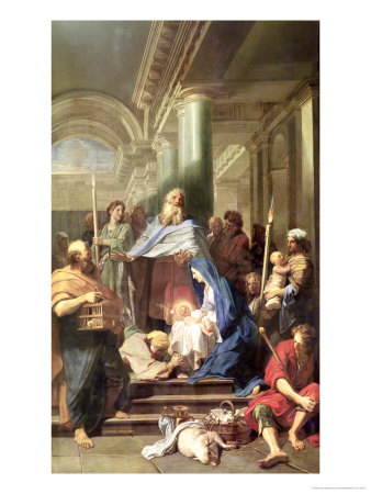 The Presentation in the Temple, 1692 Premium Giclee Print by Jean-Baptiste Jouvenet