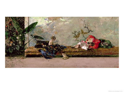 The Painter's Children in the Japanese Salon Giclee Print by Mariano Fortuny y Marsal
