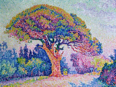 The Pine Tree at St. Tropez, 1909 Premium Giclee Print by Paul Signac