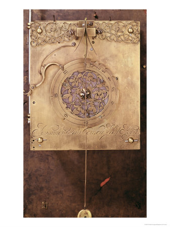 Early Weight-Driven Pendulum Clock, Detail of Chime Control Mechanism, Built by Johannes Van Ceulen Giclee Print by Christian Huygens