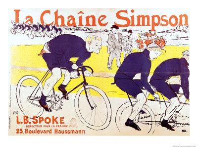 The Simpson Chain, 1896 Premium Giclee Print by Henri de Toulouse-Lautrec