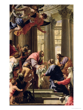 Presentation in the Temple Premium Giclee Print by Simon Vouet