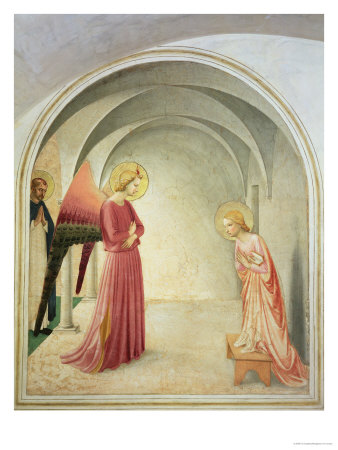 The Annunciation, 1442 Premium Giclee Print by  Fra Angelico
