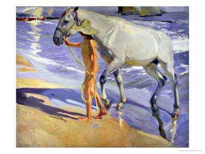Washing the Horse, 1909 reproduction procd gicle