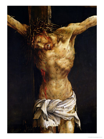 Christ on the Cross, Detail from the Central Crucifixion Panel of the Isenheim Altarpiece Premium Giclee Print by Matthias Grünewald