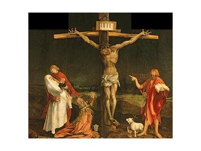 The Crucifixion, from the Isenheim Altarpiece, circa 1512-15 Giclee Print by Matthias Grünewald