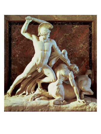 Theseus Slaying a Centaur Giclee Print by Antonio Canova