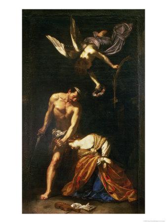 The Martyrdom of St. Cecilia Giclee Print by Orazio Riminaldi