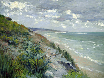 Cliffs by the Sea at Trouville Premium Giclee Print by Gustave Caillebotte