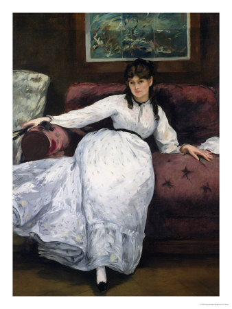 The Rest, Portrait of Berthe Morisot, 1870 Premium Giclee Print by Édouard Manet