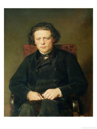 Portrait of Anton Rubinstein 1870 Giclee Print by Vasili Grigorevich Perov