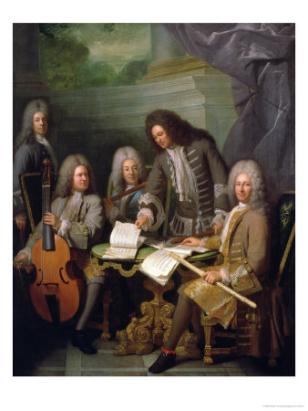 La Barre and Other Musicians, circa 1710 Premium Giclee Print by Robert Tournieres