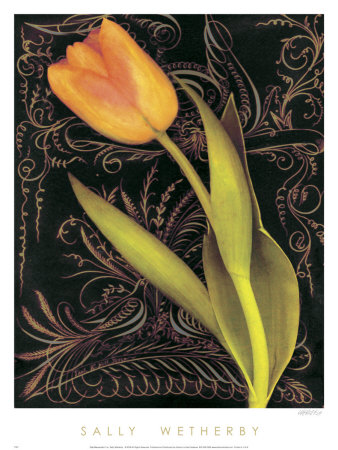 Tulip Manuscript II Prints by Sally Wetherby