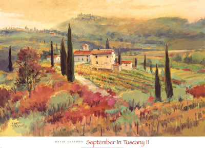 September In Tuscany II Stampe di David W. Jackson