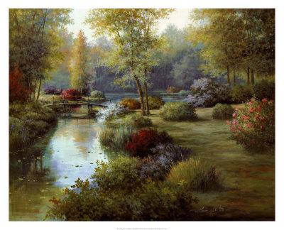 Floral Reflections Print by Tan Chun