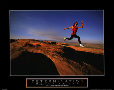 Determination - Runner Reproduction d'art