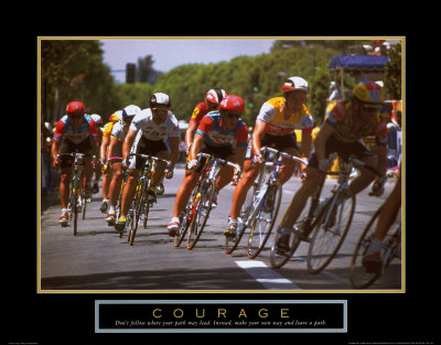 Courage: Making a Turn Bicycle Race Art Print