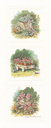 Antique Wheelbarrow Posters by Peggy Thatch Sibley