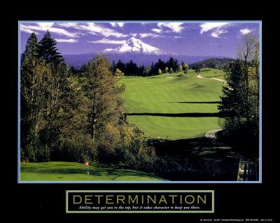 Determination: Golf Print