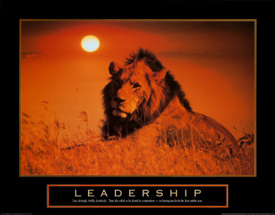 Leadership: Lion Reproduction d'art