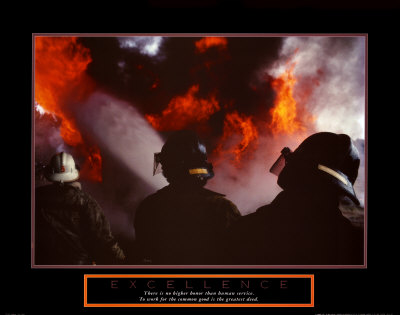 Excellence: Three Firemen Art Print