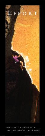 Effort: Rock Climber Art