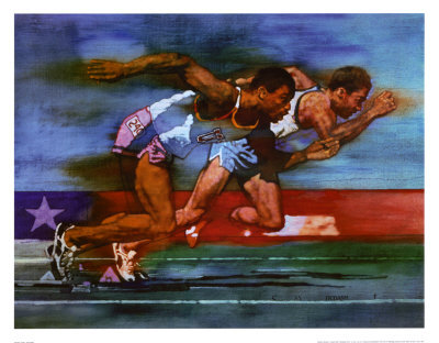 Olympic Track and Field Poster by Michael Dudash