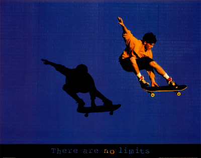 No Limits Skateboarder Art Print
