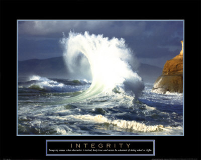 Integrity: Wave Art Print
