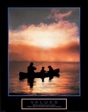 Values: Fishing Prints
