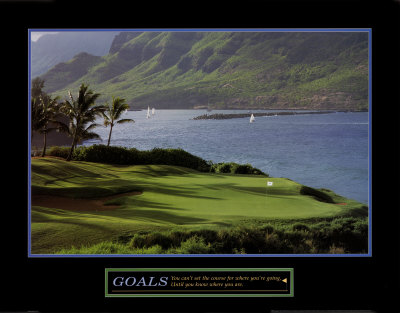 Goals: Golf Art Print