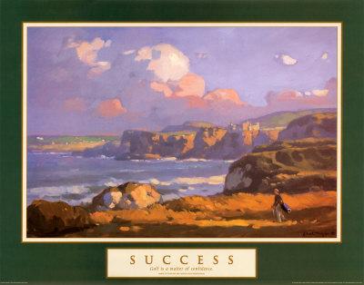 Success: Irish Links Poster by John Traynor