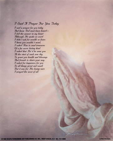 I Said a Prayer for You Print by Danny Hahlbohm