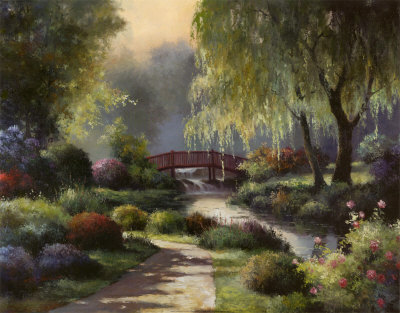 Path to Willow Park Art Print