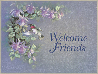 Welcome Friends Prints by T. C. Chiu