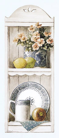 Blue China and Fruit Posters by T. C. Chiu