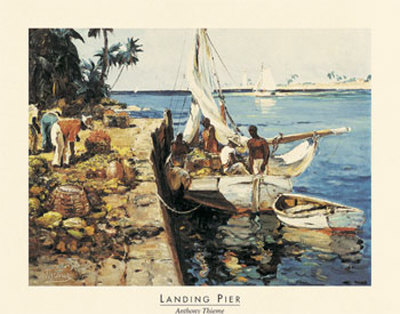 Landing Pier Prints by Anthony Thieme