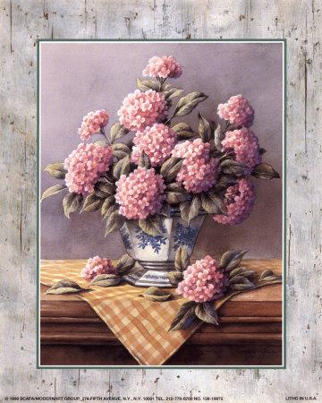 Pink Hydrangeas Prints by T. C. Chiu