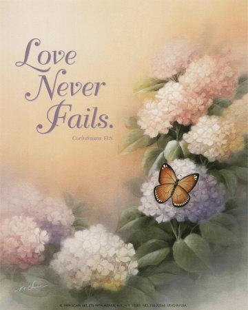 Love Never Fails Print by T. C. Chiu